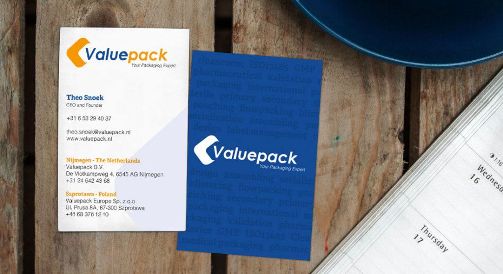 valuepack huisstijl visitekaartjes