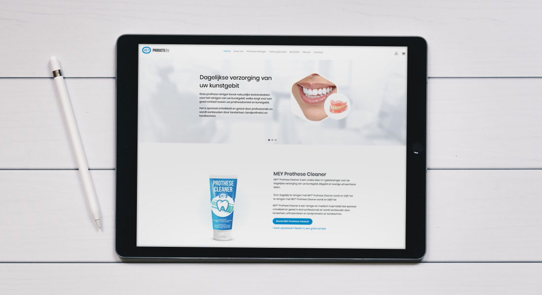 Nieuwe website met webshop voor Mey Products gelanceerd