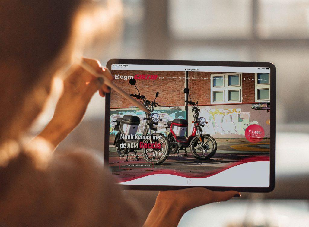 online marketing electrische scooter agm goccia