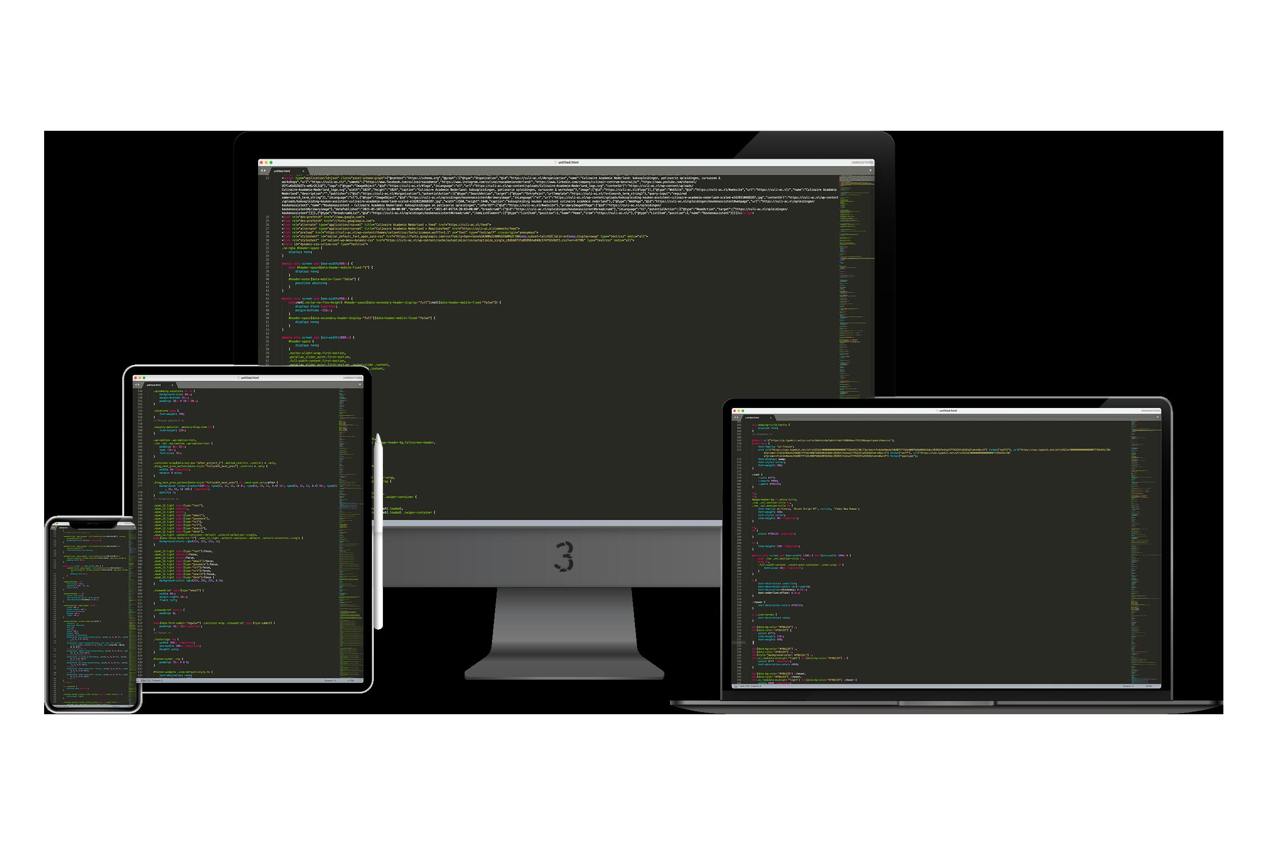 webdesign code website