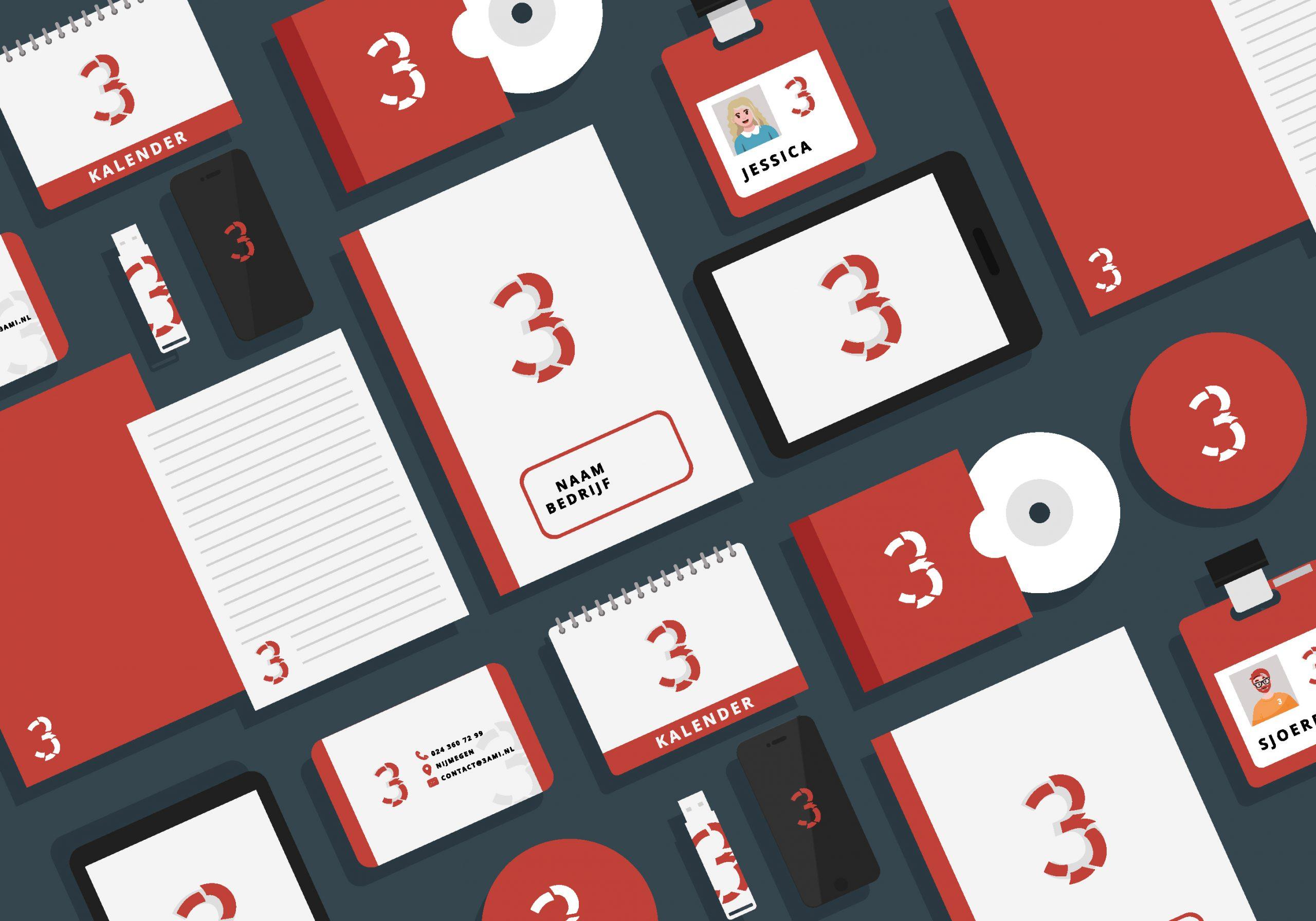 3ami huisstijl handboek visitekaartjes folder 01 scaled