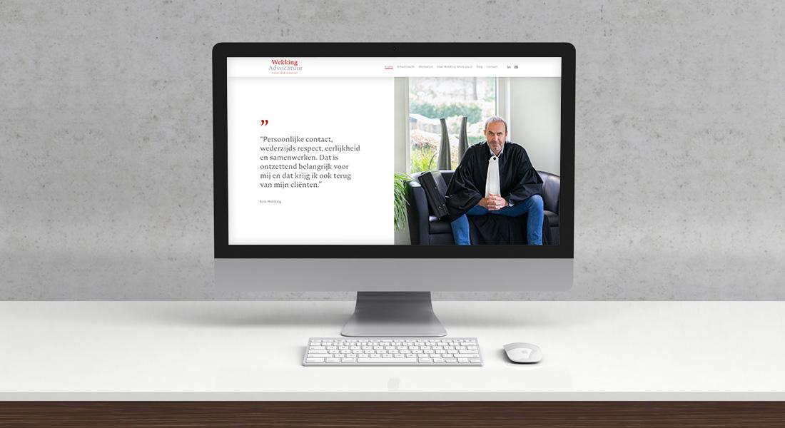 Vernieuwde website voor Wekking Advocatuur